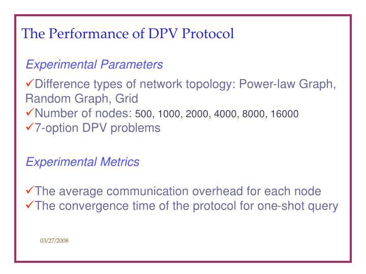 The Performance of DPV Protocol