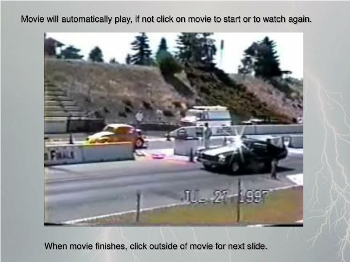 Movie will automatically play, if not click on movie to start or to watch again.