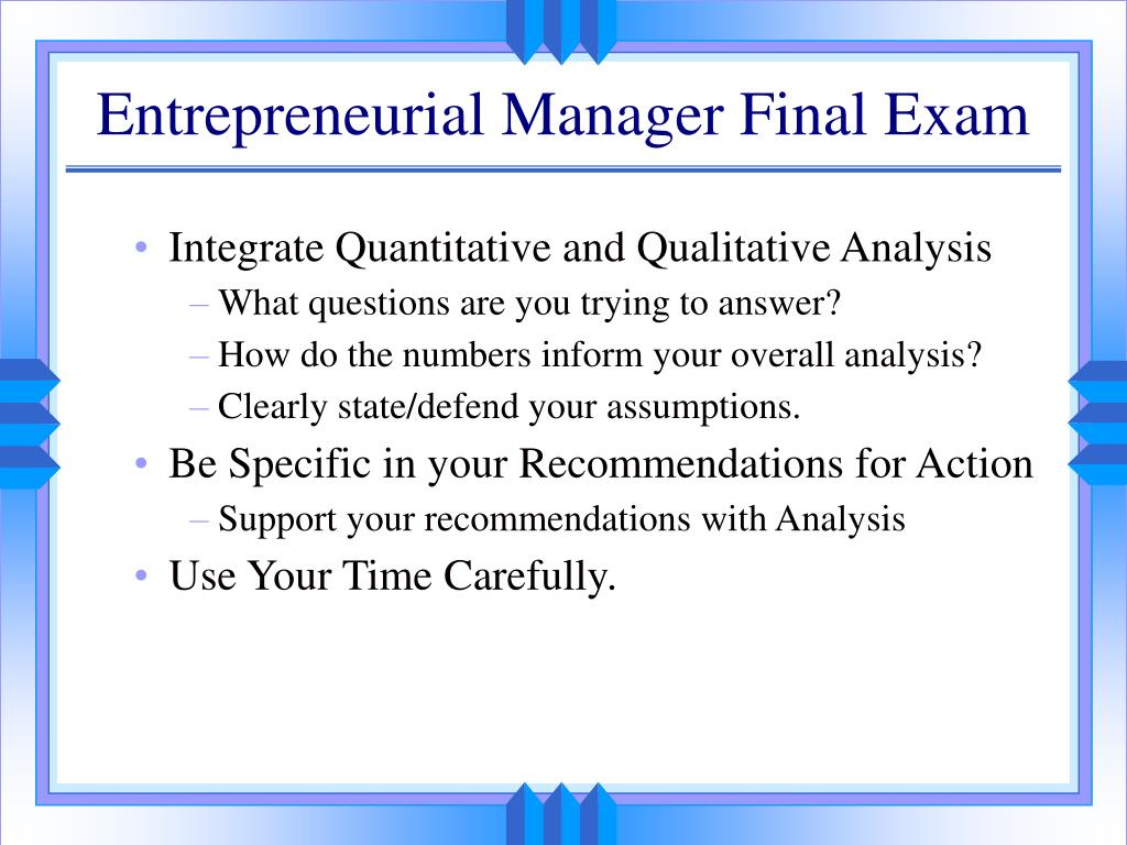 PPT - Entrepreneurial Manager Tool Kit Course Wrap-Up