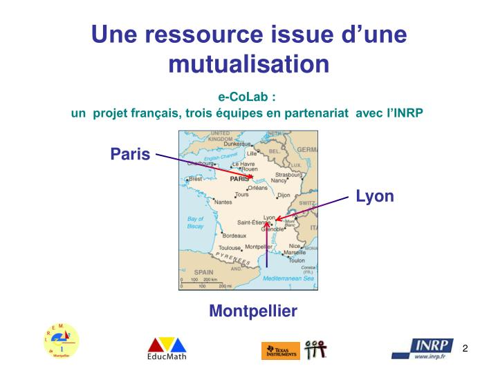 Une ressource issue d une mutualisation