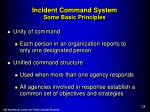 incident command system some basic principles