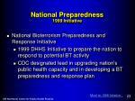 national preparedness 1999 initiative