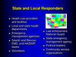state and local responders