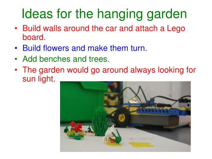 Ideas for the hanging garden