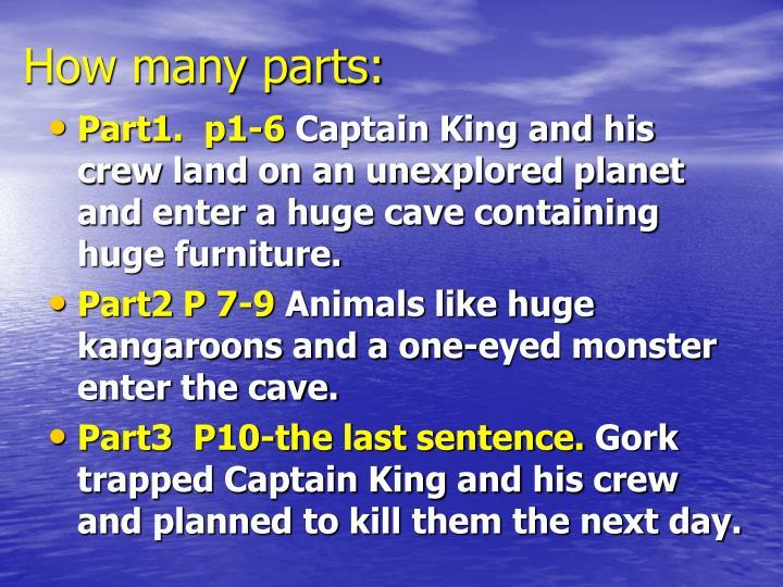 How many parts: