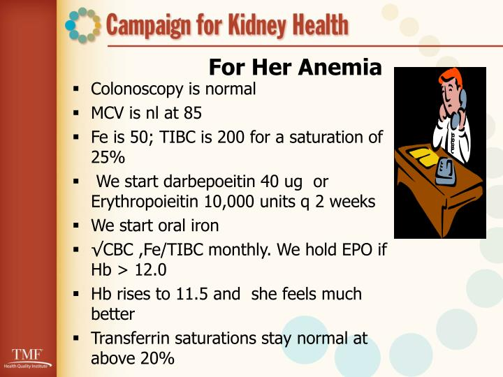 For Her Anemia