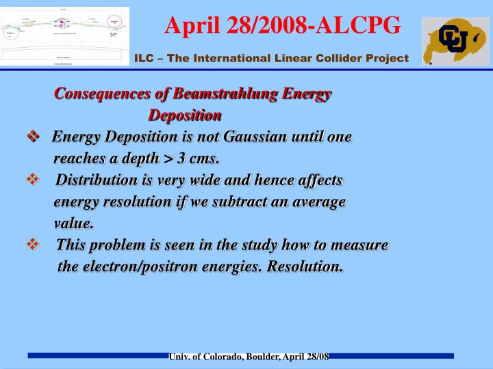Consequences of Beamstrahlung Energy