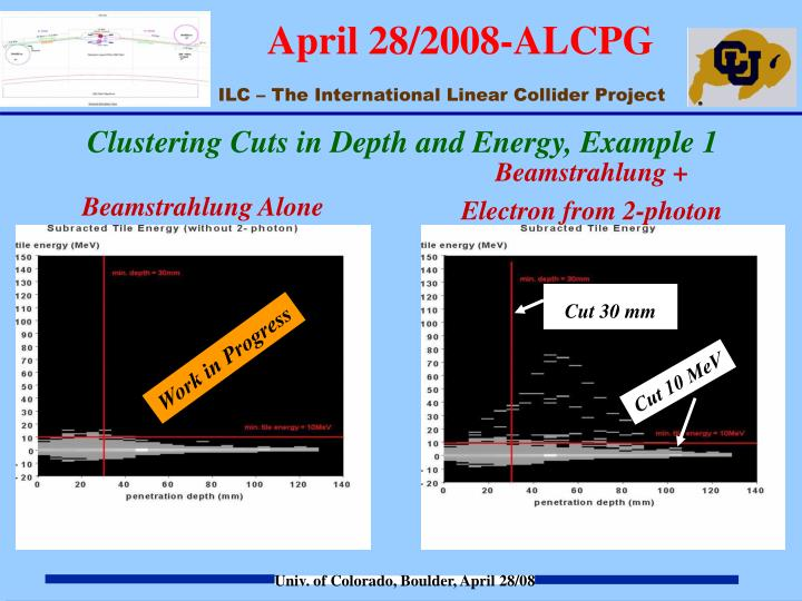 Clustering Cuts in Depth and Energy, Example 1