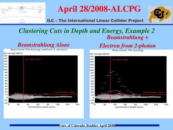 Clustering Cuts in Depth and Energy, Example 2