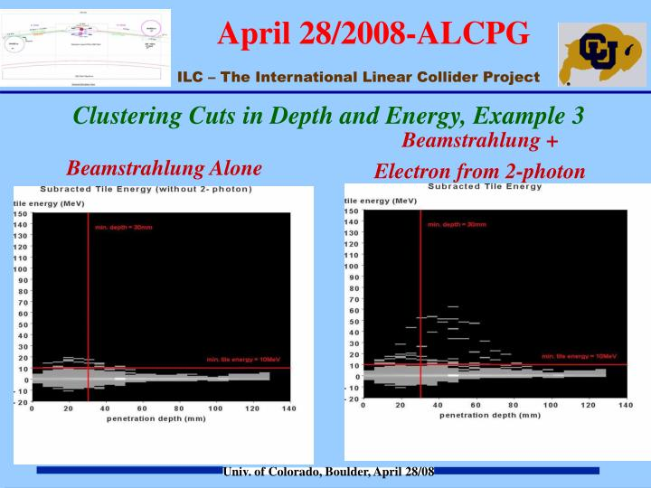Clustering Cuts in Depth and Energy, Example 3