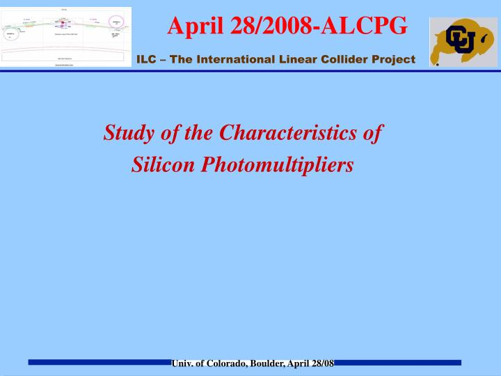 Study of the Characteristics of