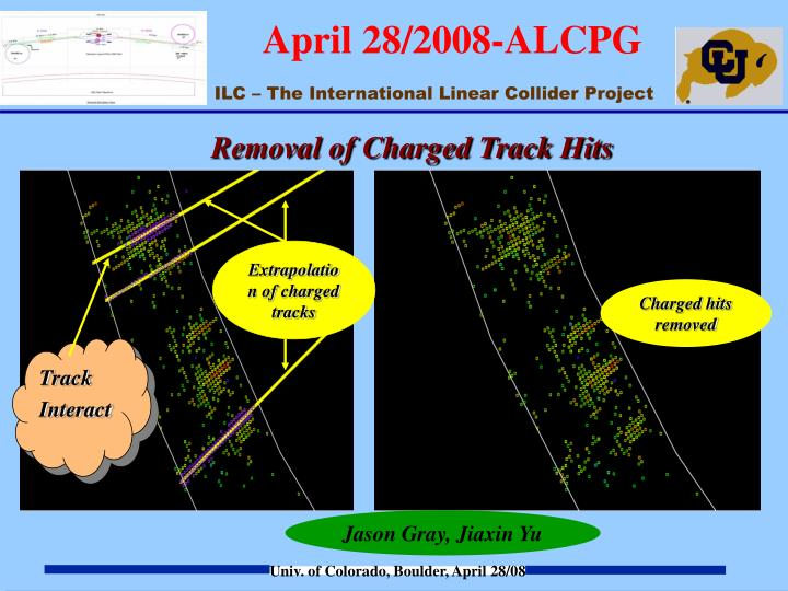 Removal of Charged Track Hits
