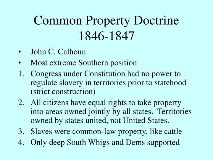 Common Property Doctrine 1846-1847