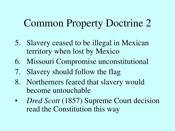 Common Property Doctrine 2