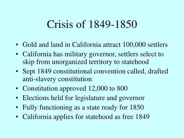 Crisis of 1849-1850