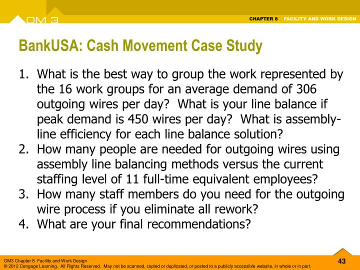 BankUSA: Cash Movement Case Study