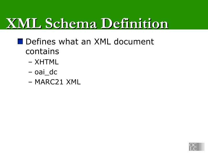 XML Schema Definition