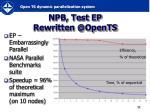 npb test rewritten @opents