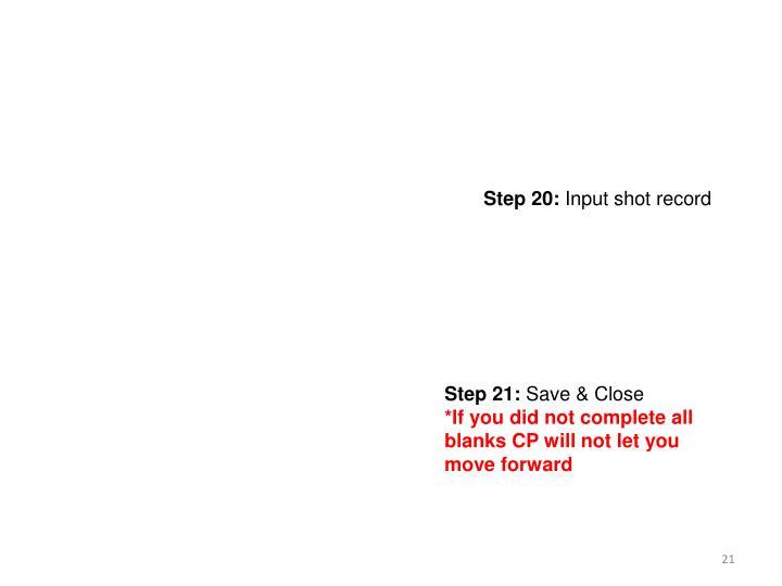 Step 20: