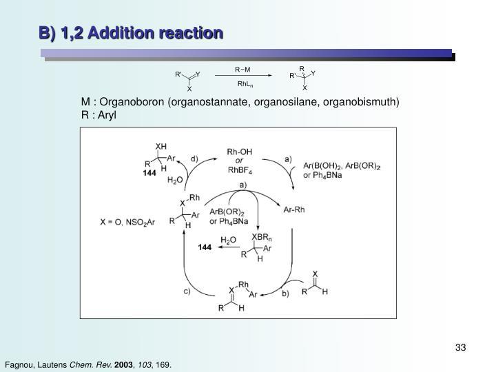 B) 1,2 Addition reaction