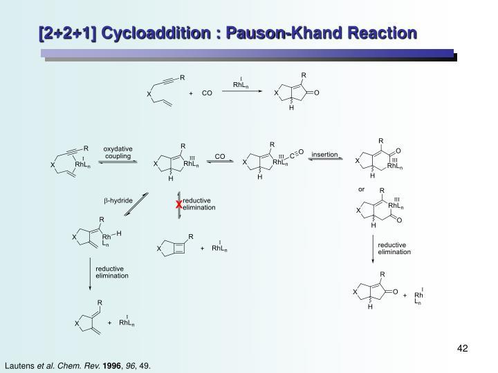 [2+2+1] Cycloaddition : Pauson-Khand Reaction