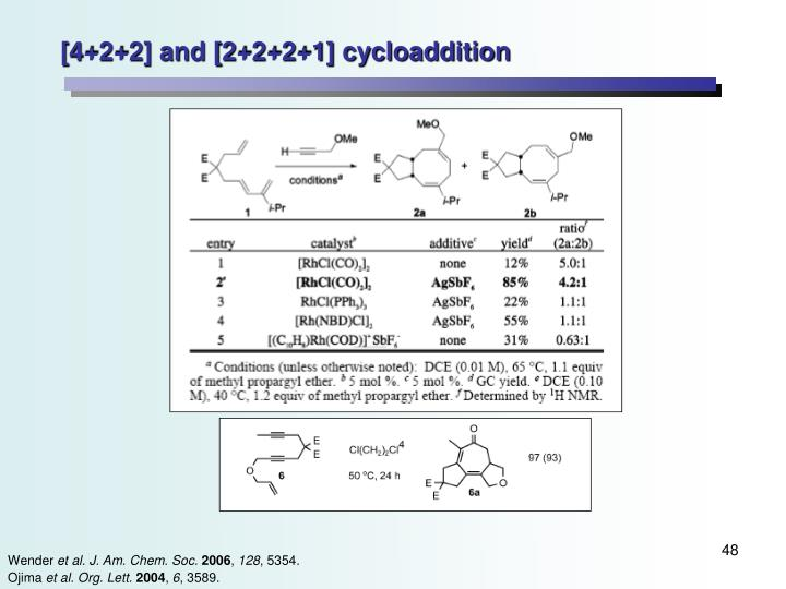 [4+2+2] and [2+2+2+1] cycloaddition