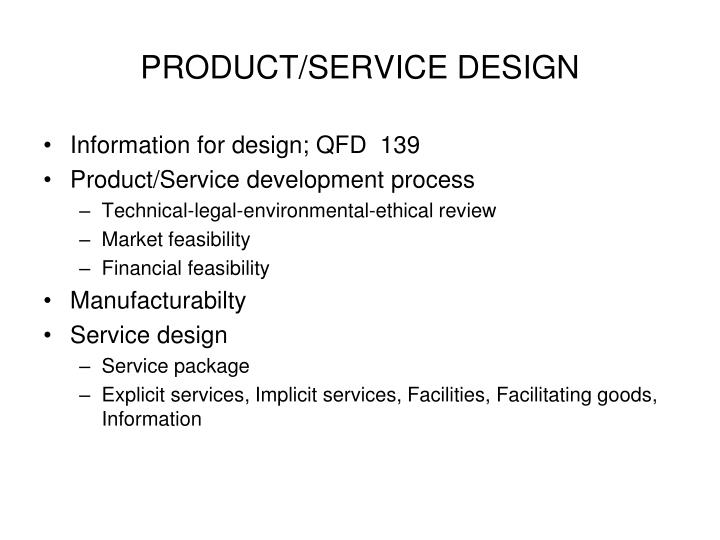 product service design n.