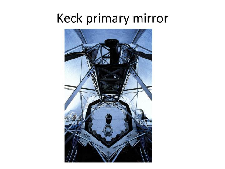 Keck primary mirror