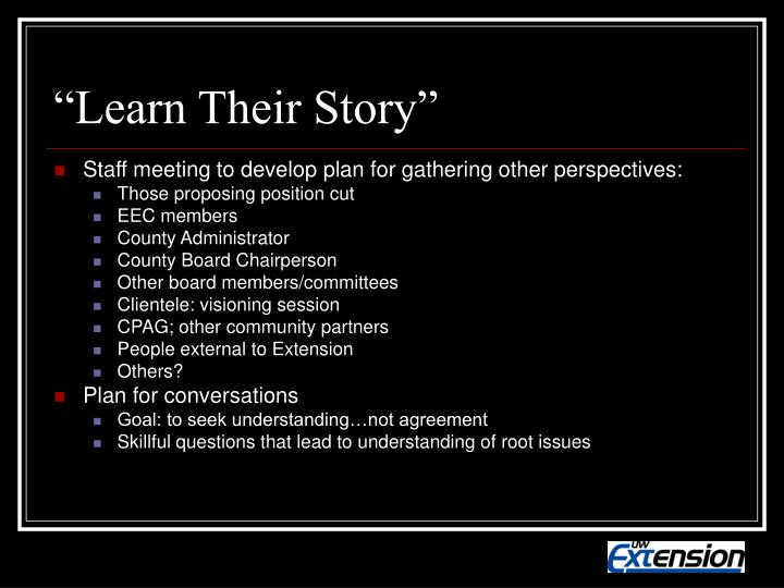 """""""Learn Their Story"""""""