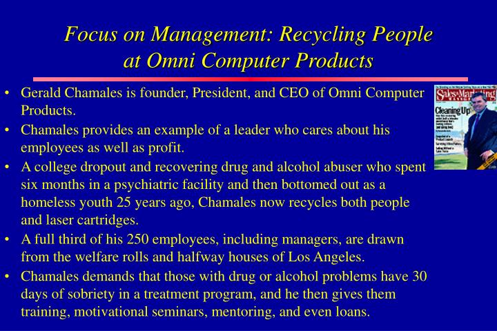 Focus on Management: Recycling People