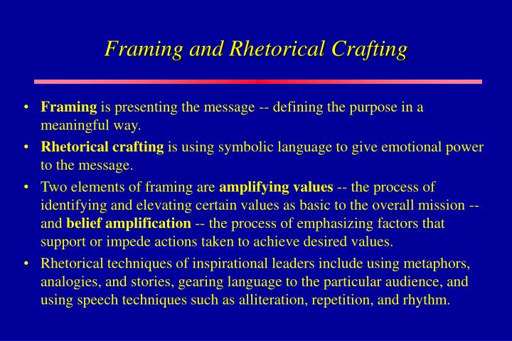 Framing and Rhetorical Crafting
