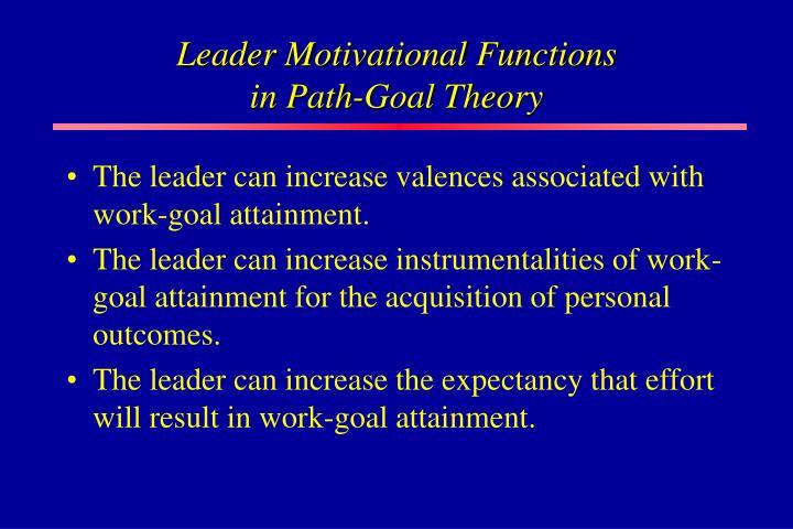 Leader Motivational Functions