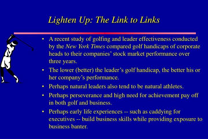 Lighten Up: The Link to Links