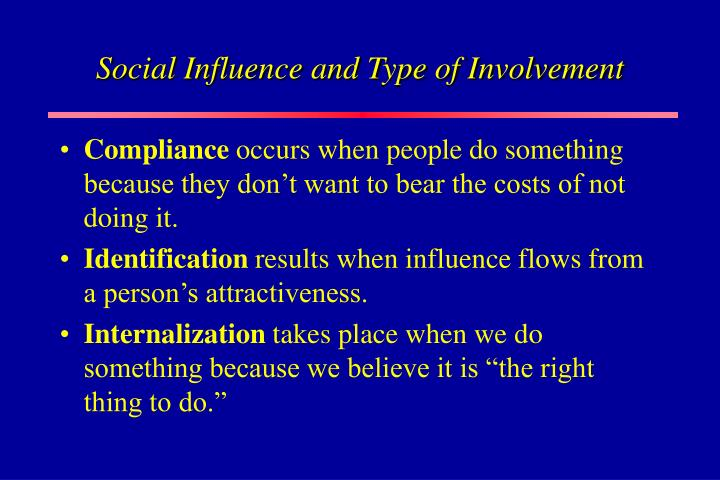 Social Influence and Type of Involvement