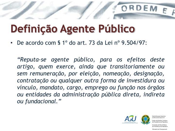 Definição Agente Público