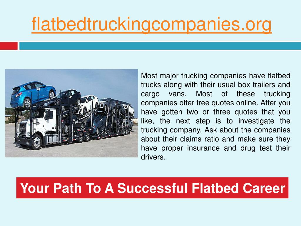 PPT - Flatbed Truck Directory PowerPoint Presentation - ID