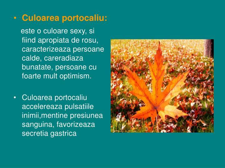 Culoarea portocaliu:
