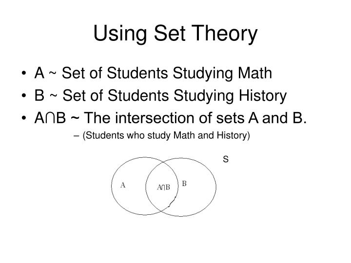 Using Set Theory