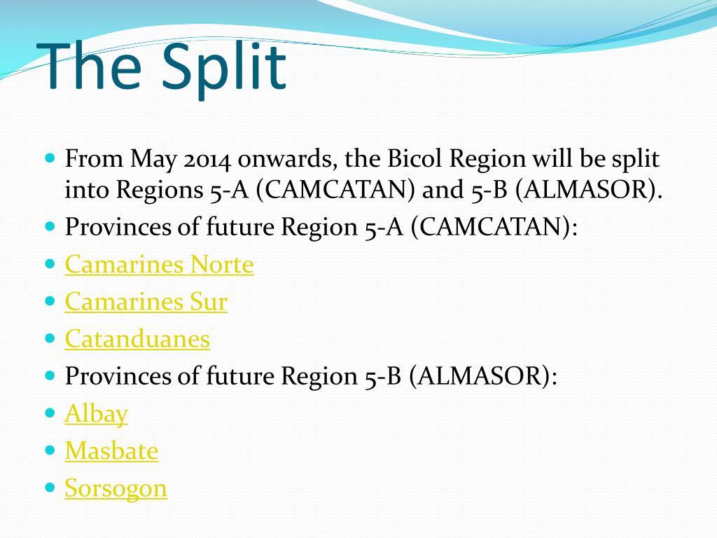 PPT - REGION 5 PowerPoint Presentation - ID:5533542