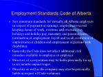 employment standards code of alberta