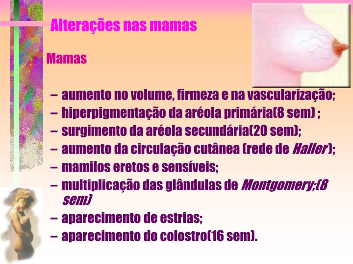 Alterações nas mamas