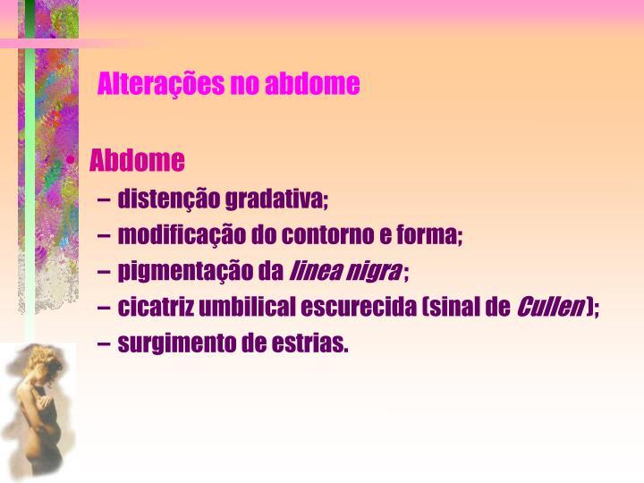 Alterações no abdome