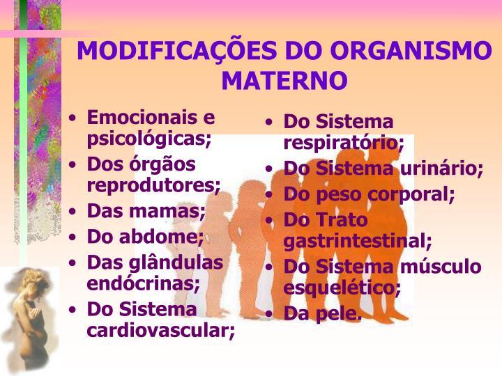 Modifica es do organismo materno1