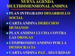 nueva agenda multidimensional andina