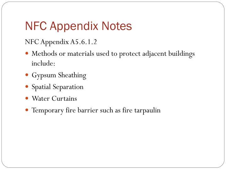 NFC Appendix Notes