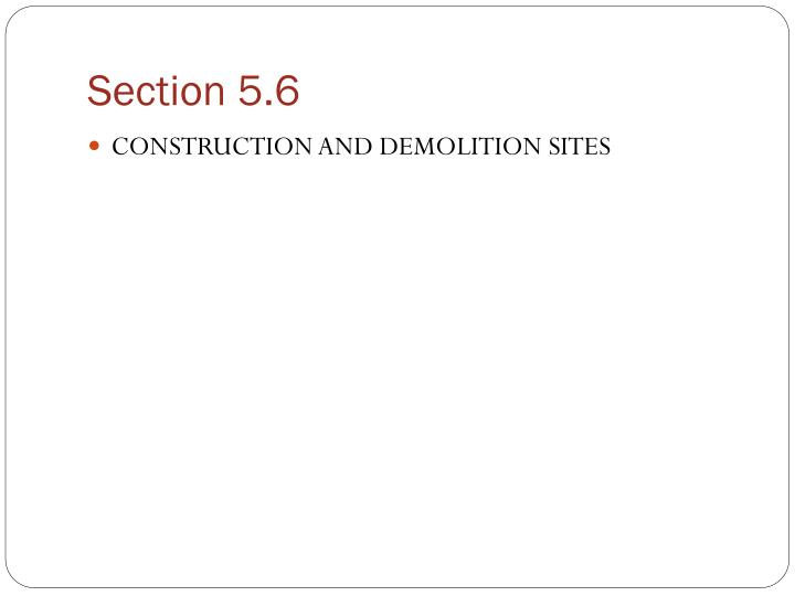 Section 5 6