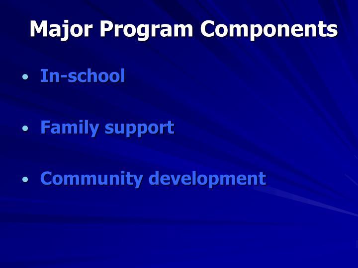 Major Program Components