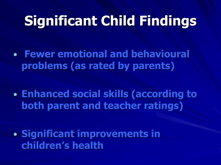 Significant Child Findings