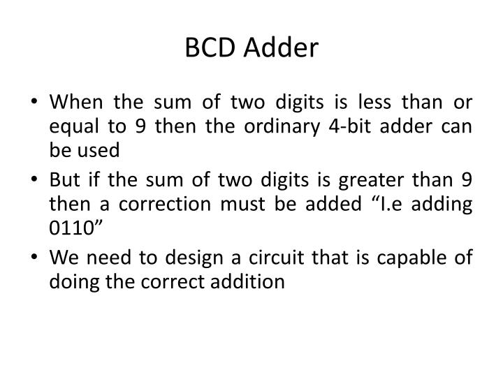 Ppt Bcd Adder Powerpoint Presentation Id5533957