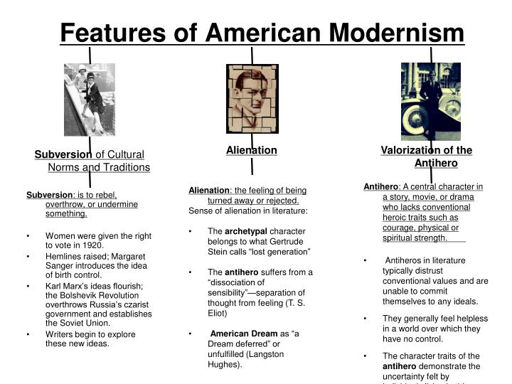 Features of American Modernism